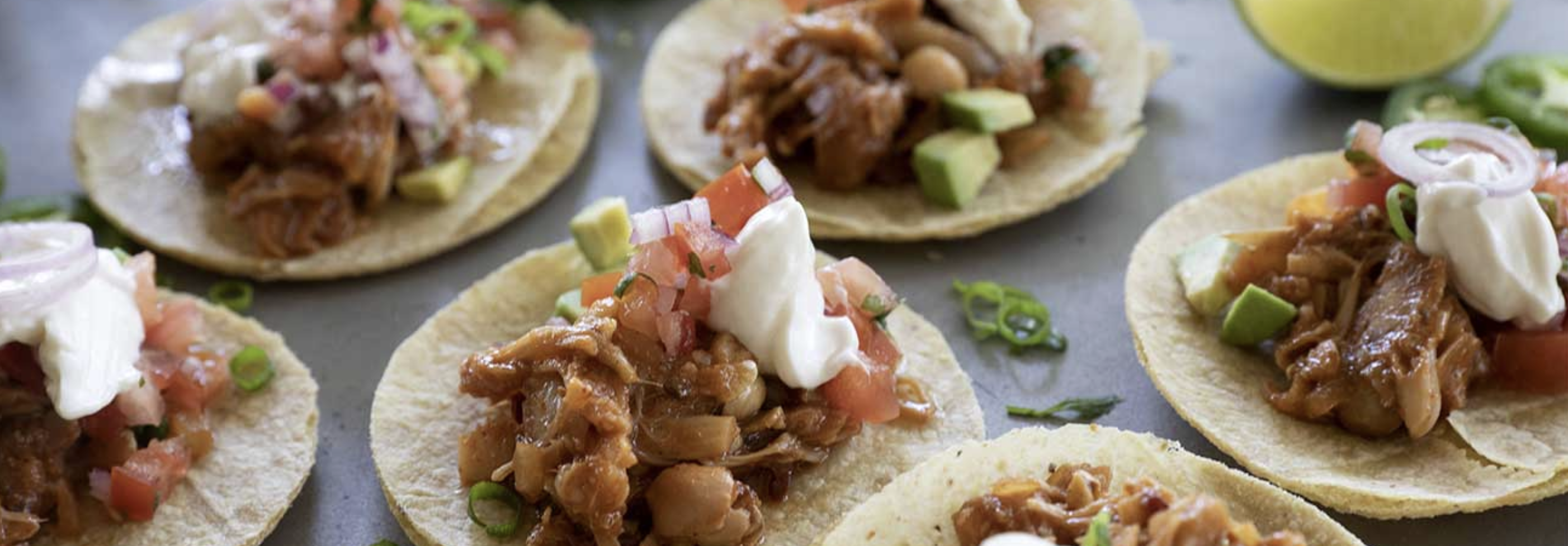 CHIPOTLE JACKFRUIT TACOS WITH PICO